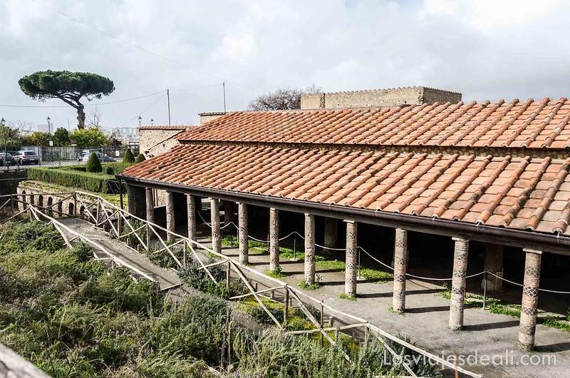 villa de los misterios en la visita a Pompeya