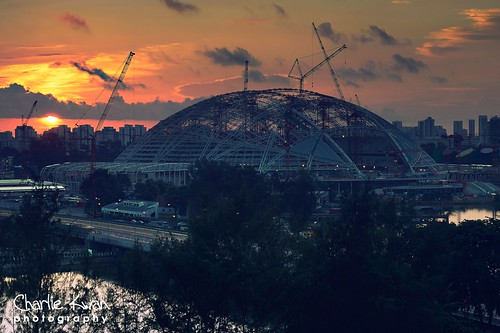 New stadium at sunrise | by Charlie Kwan Photography