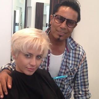 Celebrity hairstylist ramsesiii at a t tramp salon for A t tramp salon