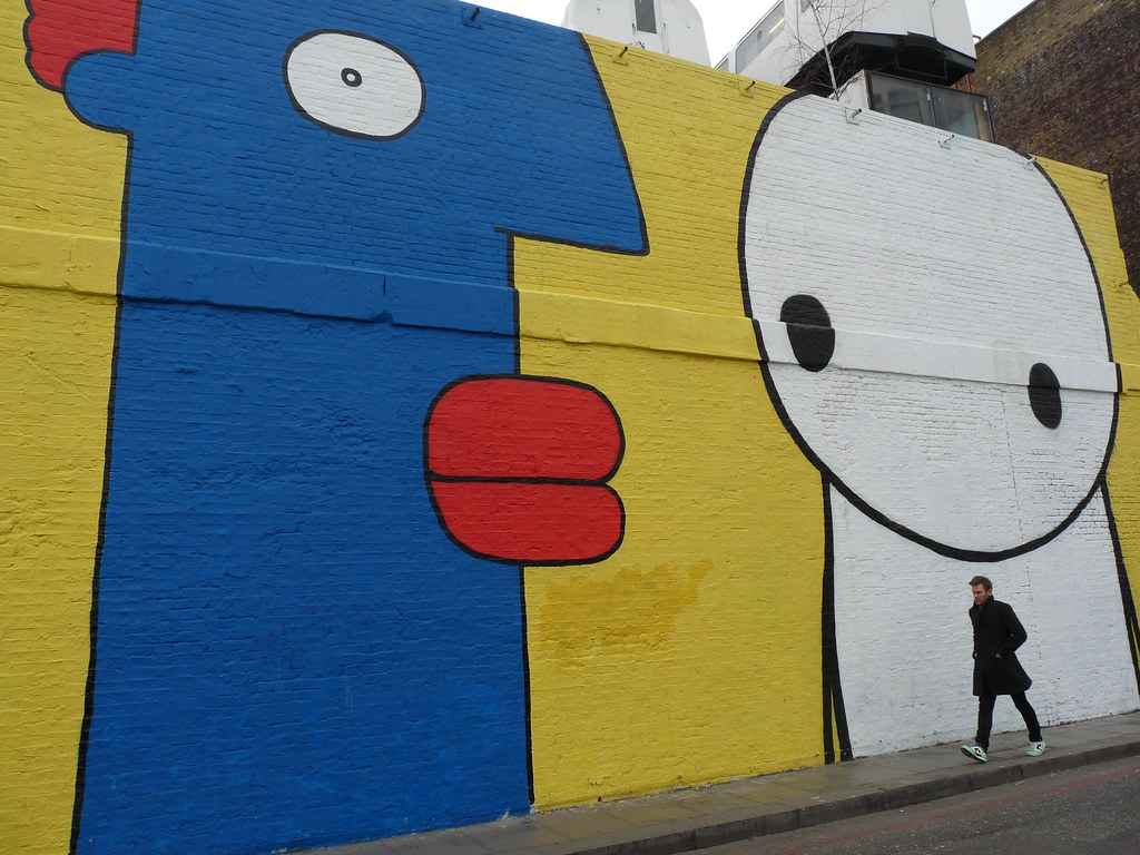 Hollywell Lane, Borough of Hackney-Artistes - Thierry Noir… | Flickr