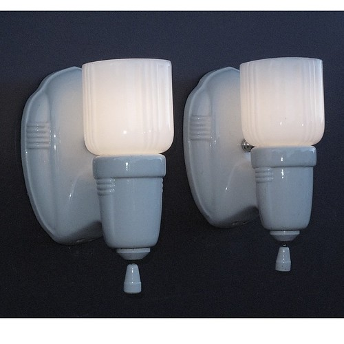 Vintage White Porcelain Wall Sconces Flickr
