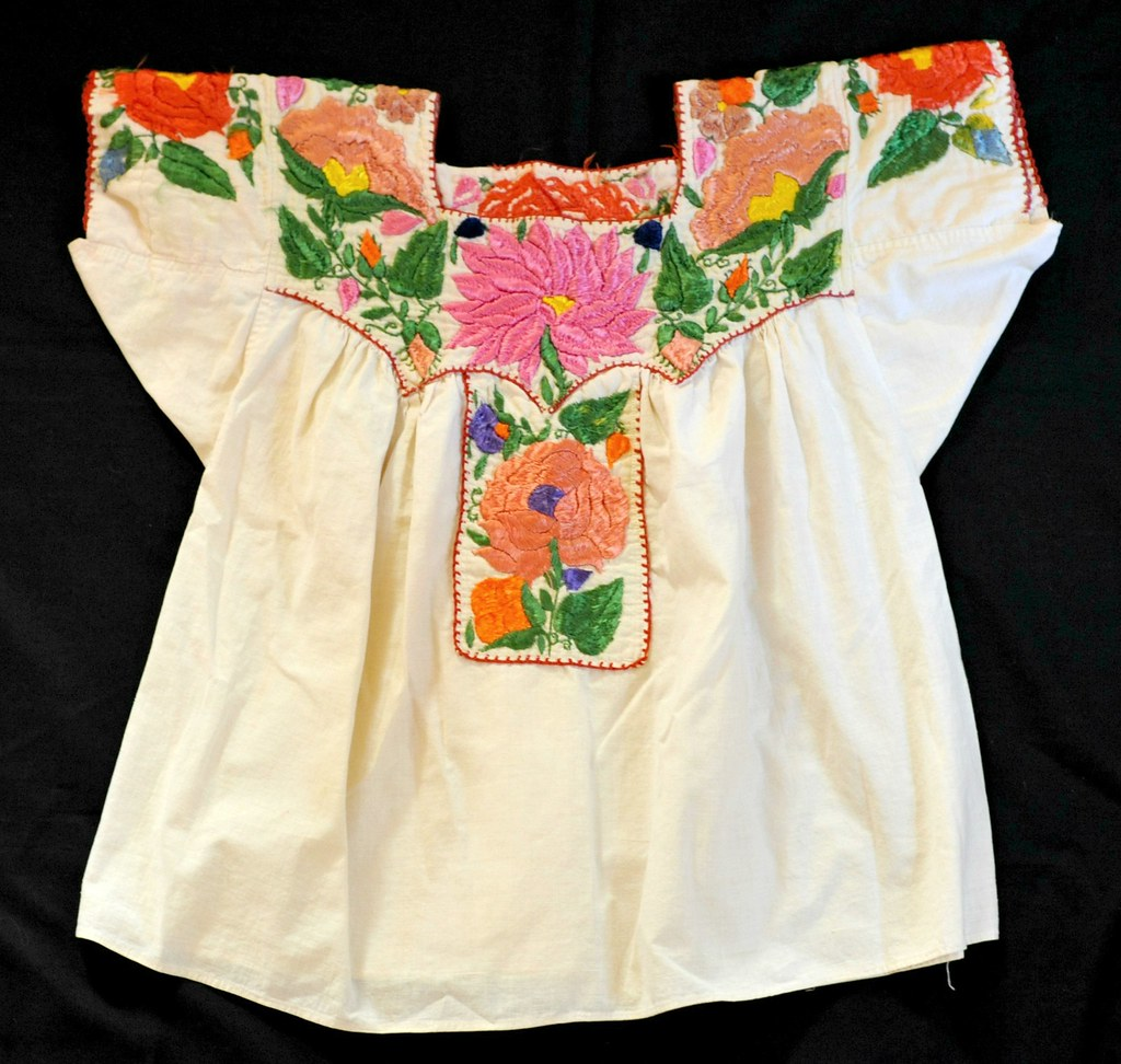 ... China Poblana Blouse Mexico Beautiful flowers are embroide Flickr