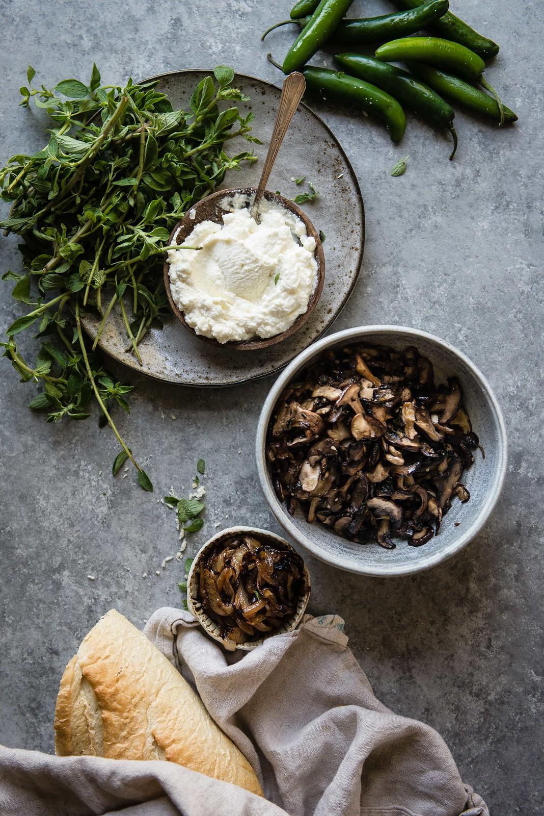 roasted mushroom, avocado, & ricotta toast