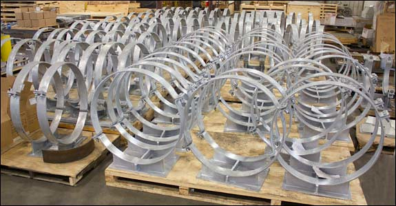 Custom Designed Bolt Cradle Supports for a Chemical Plant in Texas