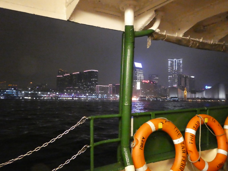 Crossing Victoria Harbour on the lower deck of the Star Ferry