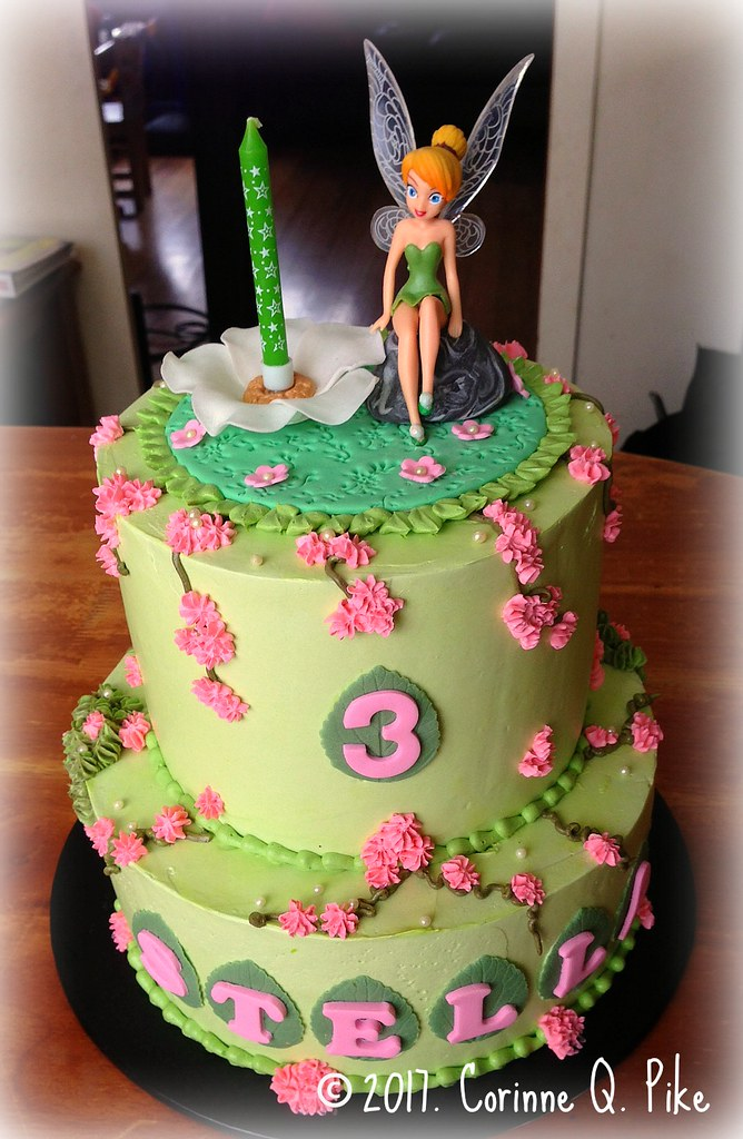 Tinkerbellthemed birthday cake pikecorinne Flickr