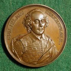 Dassier's Shakespeare Medal obverse