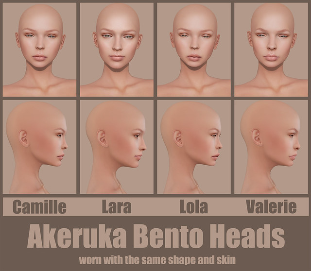 Akeruka Bento Heads Comparison