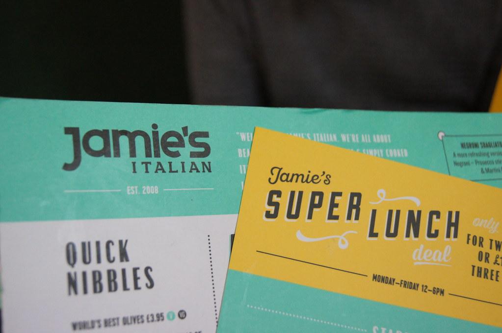 Jamie's Italian menu