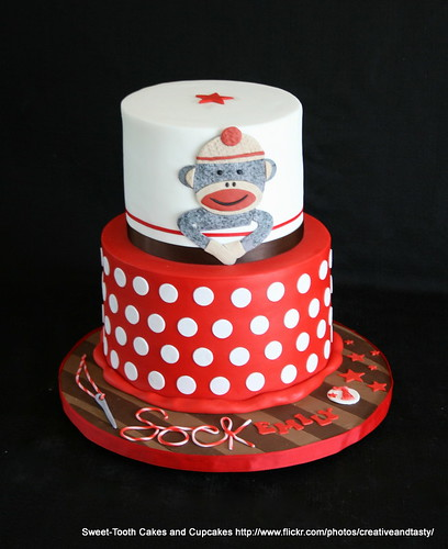 Sock Monkey Cakes Cupcakes