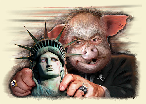 Corporate Threat to Liberty (Painting) | by DonkeyHotey