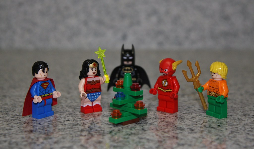 Christmas with the Justice League | Wonder Woman places the … | Flickr