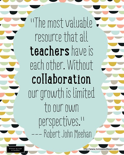 Collaborative Teaching Resources ~ Teachers collaboration robert j meehan never cease