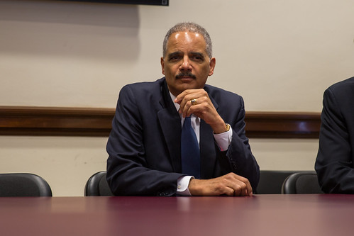 U.S. Attorney General Eric Holder meets with Police Officials and Program Participants on Diversion Initiative | by North Charleston