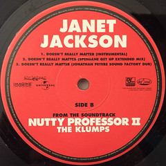 JANET JACKSON:DOESN'T REALLY MATTER(LABEL SIDE-B)