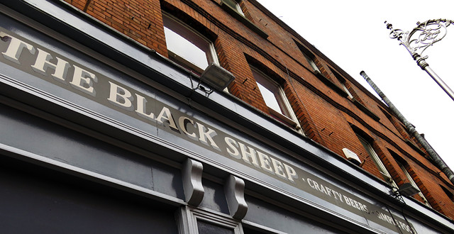 The Black Sheep, a pub specializing in crafty beers and simple food in Dublin, Ireland