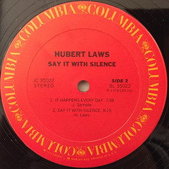 HUBERT LAWS:SAY IT WITH SILENCE(LABEL SIDE-B)