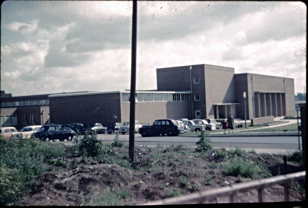 Bedworth, Nicholas Chamberlaine School, 1960. | Scan of a sl ...