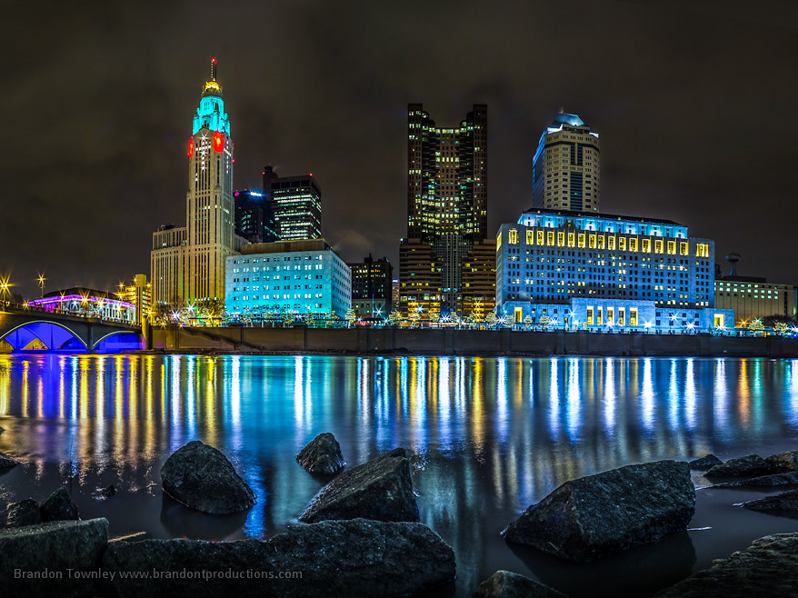 Downtown Columbus at Night | With the tripod set up in the S… | Flickr