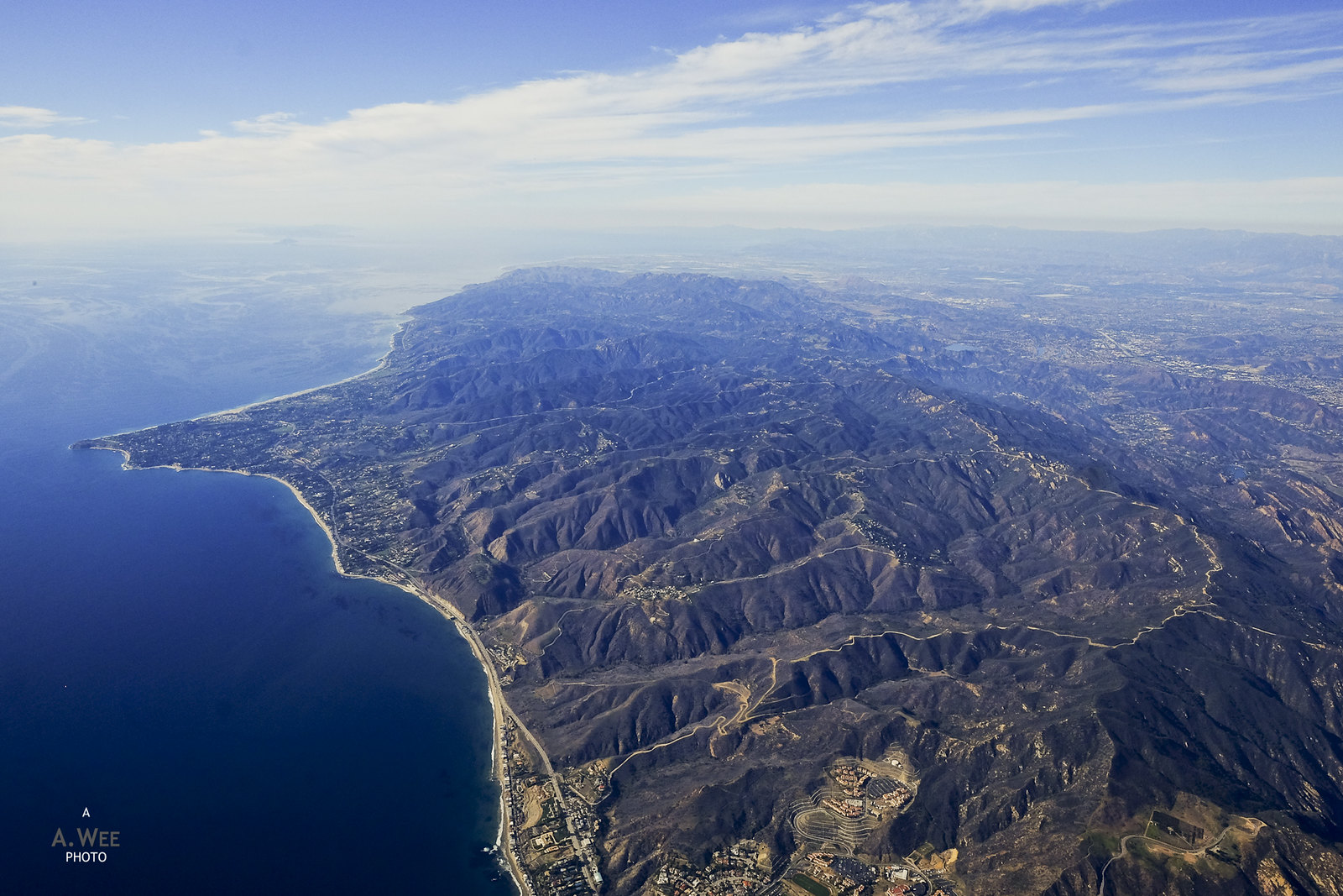 Flying over Malibu