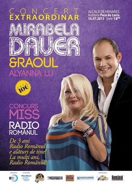 Concert Mirabela Dauer și Raoul 14 iulie 2013