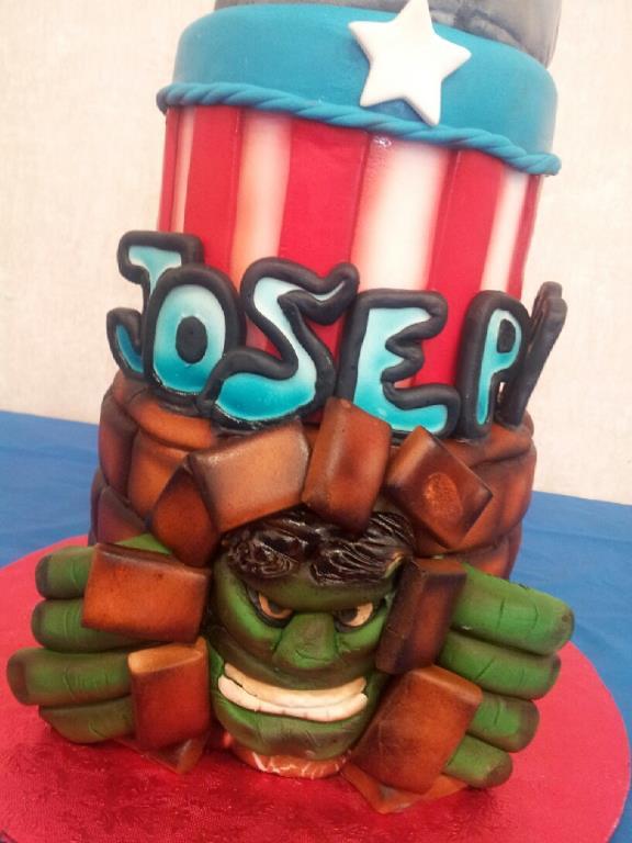 Incredible Hulk Cake By Alissa Houston Tx Birthdayc Flickr