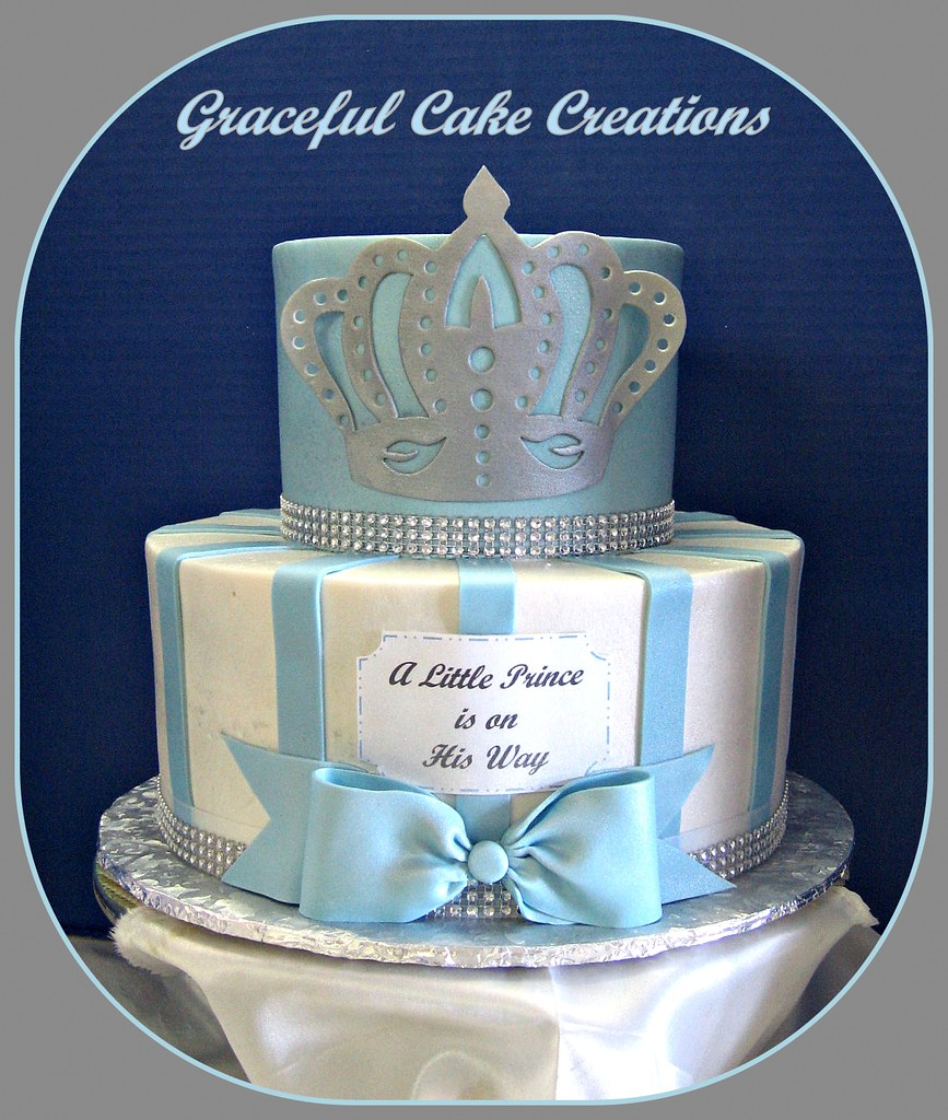 Little Prince Baby Shower Cake Grace Tari Flickr