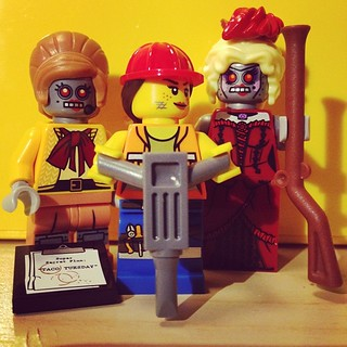 The Lego Movie female minifigs that I managed to get today. I also got some American president and yet another Will Farrell, but who cares about them? | by Neil Crosby
