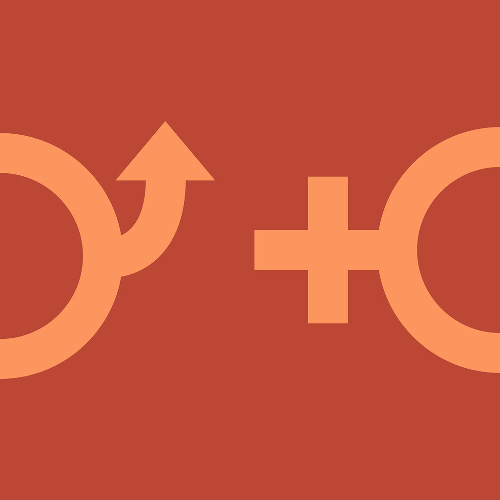 Male And Female Gender Symbols Minimal Conceptual Male And Flickr