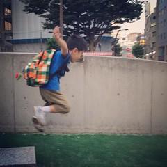 ジャンプするとらちゃん 2015/7