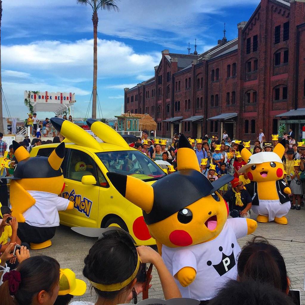 Gangsta Pika @ Pikachu Outbreak ;-) #pika #pikachu #yokohama  http://tv-france-japon.com/pikachu-yokohama/ ;-)