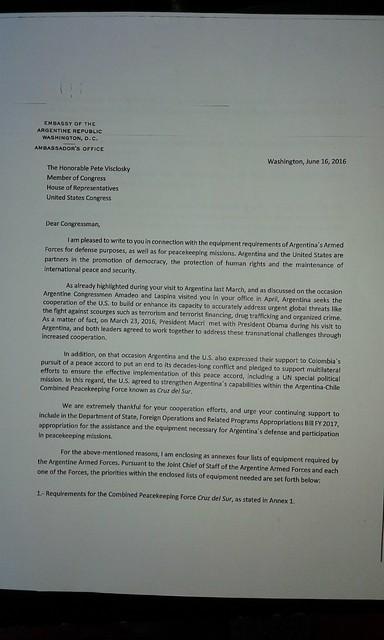 Carta ARG-EEUU I