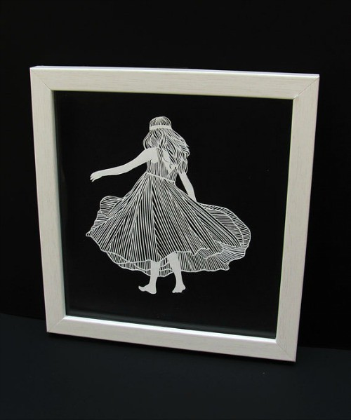 Papercut Walking Girl by Parth Kothekar