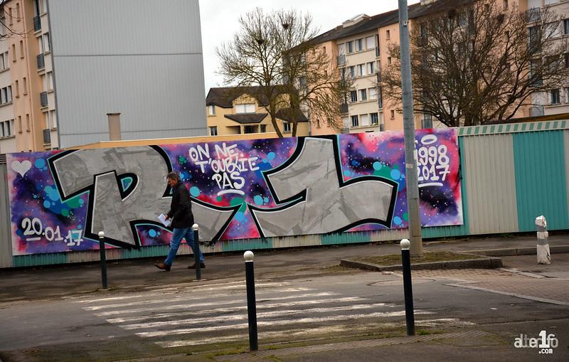 [09 Mars 2017] – Un jour, une photo… A Cleunay, une fresque en hommage à Erwan