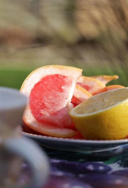 Jasmine Fizz Cocktail - citrus