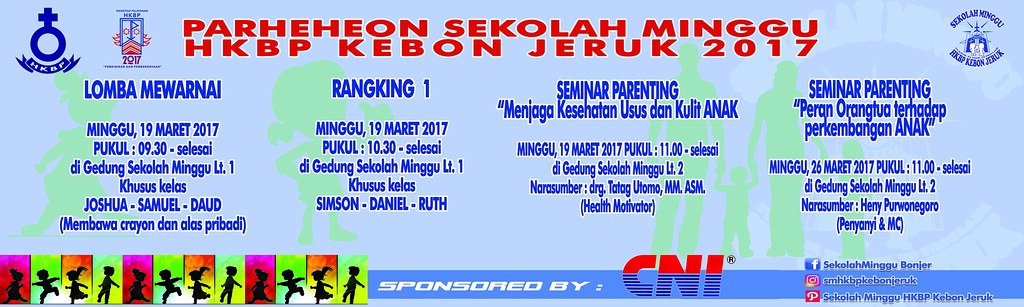 01 Spanduk Prh Sekolah Minggu Hkbp Kebon Jeruk Flickr