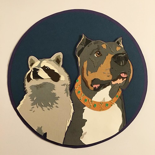 Custom Paper Pet Portraits - Agnes and Bork