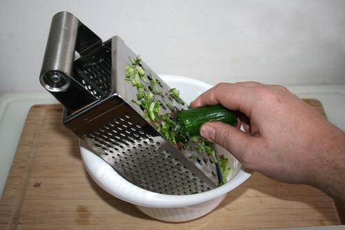 43 - Gurke grob raspeln / Grate cucumber
