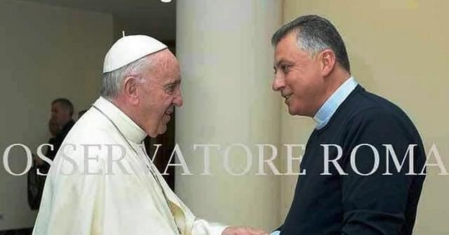 don Vincenzo Federico incontra papa Francesco