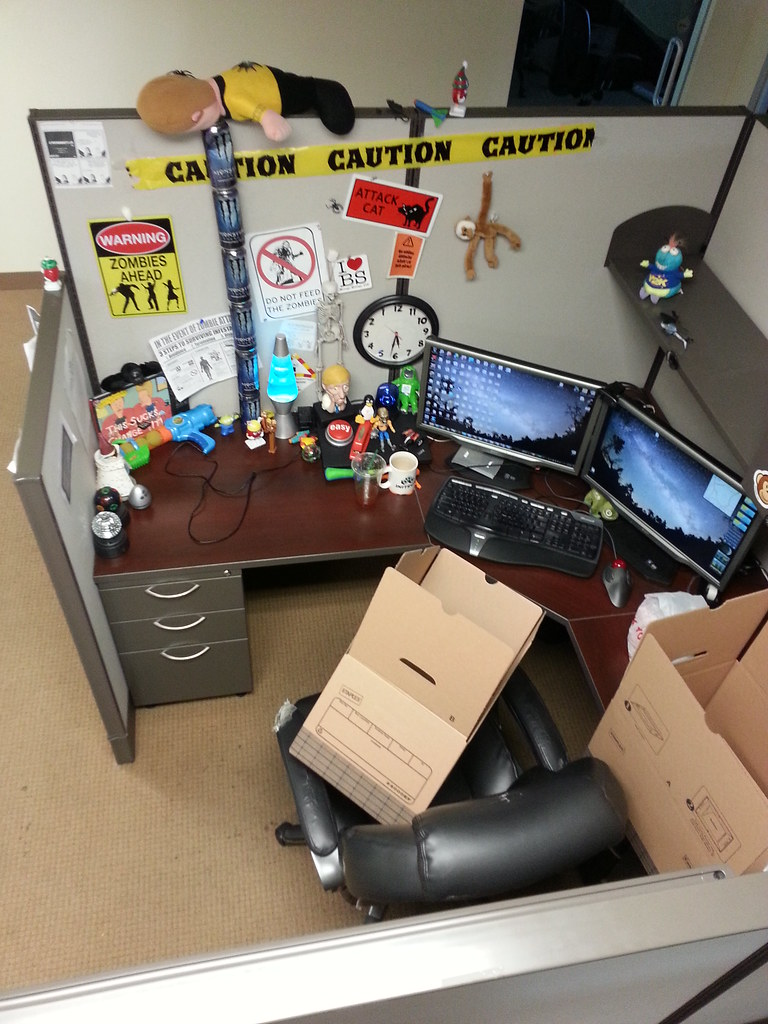 office desk cubicle. San Diego Office Is Packing Up My Desk. Saying Goodbye To Cubicle Tonight. Desk