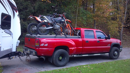 Dirt Bikes On Black Heavy Duty Truck Bed Cover On Pickup P Flickr