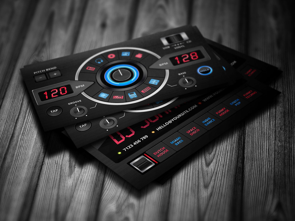 Creative DJ Business Card template | This business card temp… | Flickr
