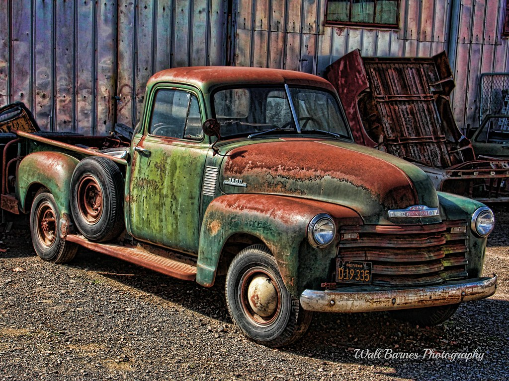 Old Chevy truck high HDR | A more intense HDR shot of this o… | Flickr