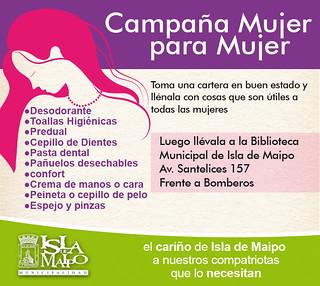 Biblioteca de Isla de Maipo es el Centro de Acopio de Campañas Municipales para Damnificados por Incendios de la zona Centro Sur del País