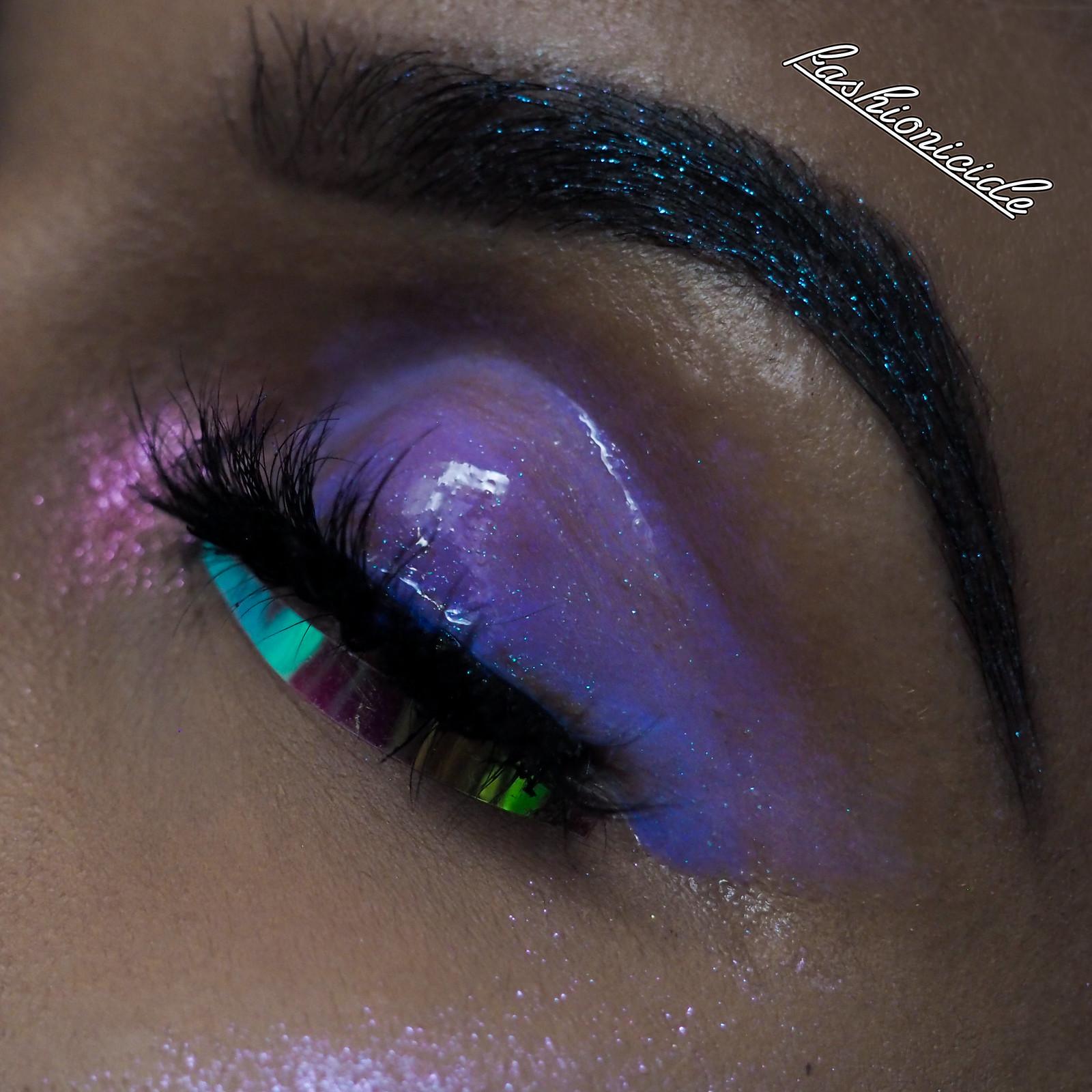 Inglot AMC Lip Gloss 541 Eye Makeup Swatch Iridescent Sigma Lip Switch Transcend Dupe Dark Skin Brown