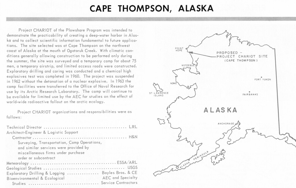 Point Thompson Alaska Map.Nevada Test Site 1969 Project Chariot Cape Thompson Alas Flickr