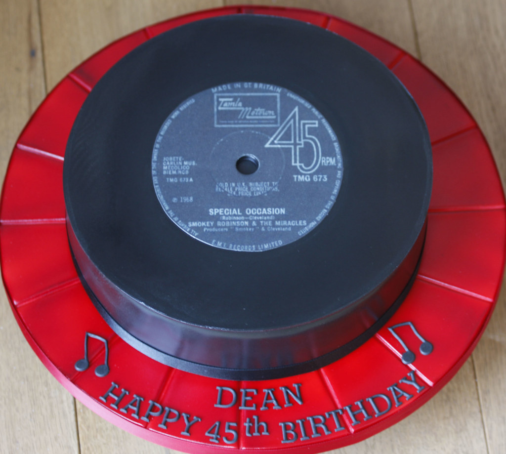Vinyl Record Cake By Kingfisher Cakes