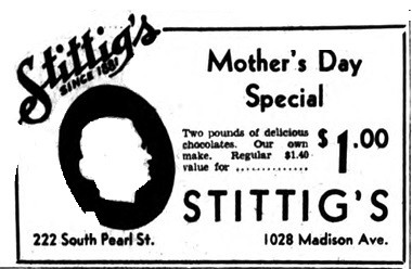 stittigs candy store 1934 albany ny 1930s | south pearl st a