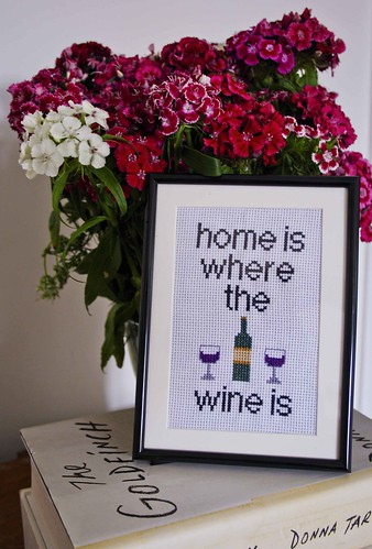 Home is where the wine is - cross stitch | by rosiemrogers