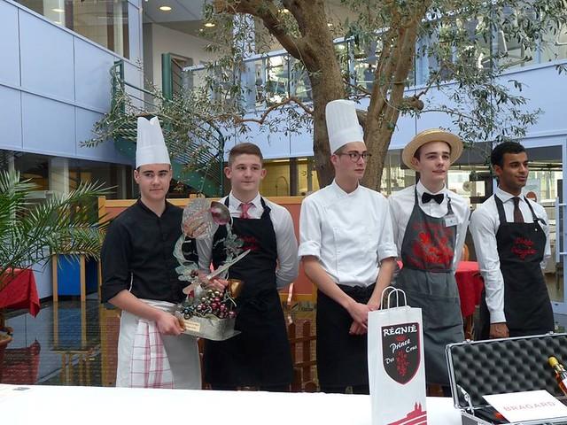 Le lycée Aiguerande a remporté le trophée gastronomique du Cru Régnié